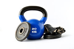 Narzędzia dla bodybuilding i sprawności fizycznej Obrazy Stock