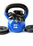 Narzędzia dla bodybuilding i sprawności fizycznej Zdjęcia Royalty Free