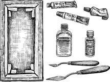 Narzędzia dla malować ilustracji