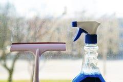 Narzędzia dla nadokiennego cleaning fotografia stock