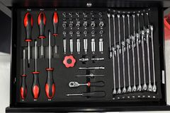 Narzędzia Dla naprawy i diagnostyków samochody w garażu samochodzie, ustawiają o Obrazy Royalty Free
