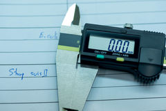 Narzędzia dla pomiarowego strefa rozmiaru bakterie jako okręt podwodny wrażliwość Fotografia Stock