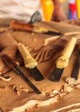 Narzędzia drewniany carver obrazy royalty free