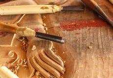 Narzędzia drewniany carver zdjęcie stock