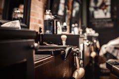 Narzędzia fryzjera męskiego sklep zdjęcie royalty free