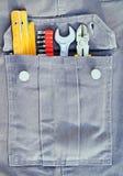 Narzędzia i kieszeń Zdjęcia Stock