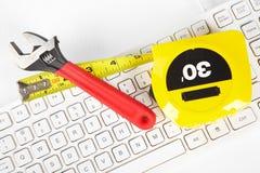 Narzędzia i klawiatura Obrazy Stock