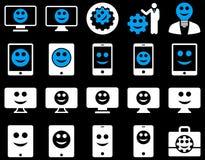 Narzędzia, opcje, uśmiechy, pokazy, przyrząd ikony Obrazy Royalty Free