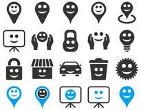 Narzędzia, opcje, uśmiechy, protestują ikony Zdjęcie Stock