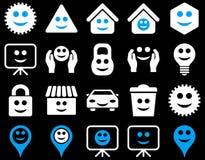 Narzędzia, opcje, uśmiechy, protestują ikony Obrazy Royalty Free
