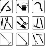 narzędzia pracy w ogrodzie ilustracji