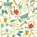 narzędzia pracy w ogrodzie (1) deseniowy bezszwowy ilustracja wektor
