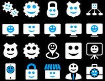 Narzędzia, przekładnie, uśmiechy, dilspays ikony Zdjęcia Stock