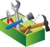 Narzędzia pudełko royalty ilustracja