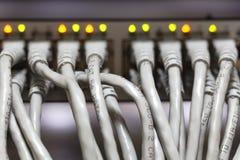 Narzędzia router On summed up, różnorodni komputerów kable Obrazy Royalty Free