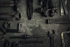 narzędzia starzy narzędzia Fotografia Stock