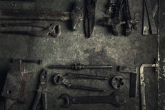 narzędzia starzy narzędzia Zdjęcia Royalty Free