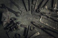 narzędzia starzy narzędzia Obrazy Stock
