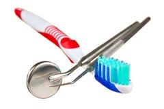 narzędzia stomatologiczny toothbrush zdjęcia royalty free