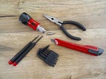 narzędzia tła drewna Zdjęcie Stock