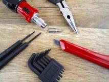 narzędzia tła drewna Obrazy Royalty Free