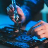 Narzędzia utrzymania naprawy elektronika odświeżanie zdjęcia royalty free