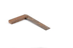 Narzędzie - rocznika metalu kwadrat odizolowywający na białym tle Obraz Stock