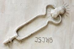 Narzędziowy i Rockowy symbol - Piekarnianego pomnika Zlany kościół metodystów fotografia stock