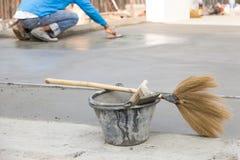 Narzędziowy tynku cement obrazy royalty free