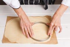 Narządzania ciasto dla tarta Zdjęcie Royalty Free