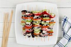Narządzania jedzenie dla kulinarnego grilla na skewers Obrazy Royalty Free