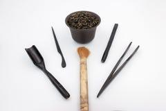 Narzędzia dla porcelanowej herbacianej ceremonii Zdjęcia Stock