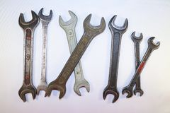 Narzędzia dla pracy, stalowi wyrwania Fotografia Stock