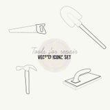 Narzędzia dla remontowego wektorowego ikona setu Zdjęcie Stock