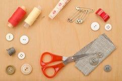 Narzędzia dla szwalnego i handmade Obraz Stock
