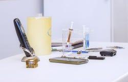 Narzędzia na dentysty stole Zdjęcie Stock