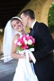 narzeczona młodego ślub zdjęcie stock