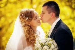 narzeczona młodego strzały na ślub Zdjęcie Royalty Free