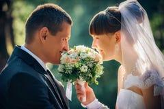 narzeczona młodego strzały na ślub Zdjęcie Stock