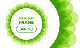 Narzut fala - Round wiosny rama Obrazy Stock