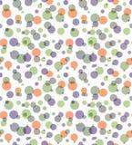 Narzuta koloru okregów przejrzysty bezszwowy abstrakcjonistyczny tło royalty ilustracja