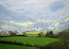 Nasłoneczniona dolina, śledzony przedpole fotografia stock