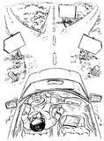 Nas estradas transversaas ilustração do vetor