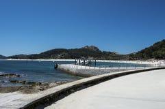 Nas ilhas de Cies Fotos de Stock Royalty Free