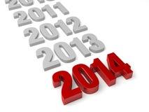 2014 estão aqui! Imagens de Stock Royalty Free
