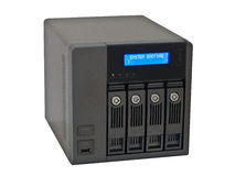 NAS Network Storage Drive. Modern Networked  Computer data storage device Royalty Free Stock Photography