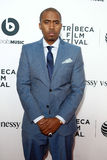Nas. NEW YORK-APR 16 2014: Rapper Nas attends the world premiere of Time Is Illmatic at the 2014 TriBeCa Film Festival Opening Night at the Beacon Theatre on Royalty Free Stock Images