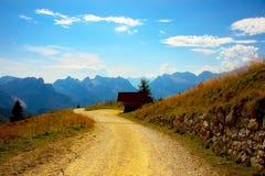 Nas nuvens nas dolomites, Itália again fotografia de stock