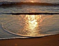 Nasłoneczniona morze piana Obrazy Royalty Free