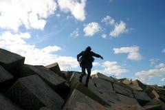 Nas rochas Foto de Stock